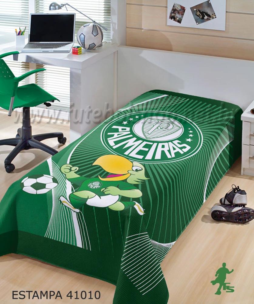 Colcha de Piquê Solteiro do Palmeiras