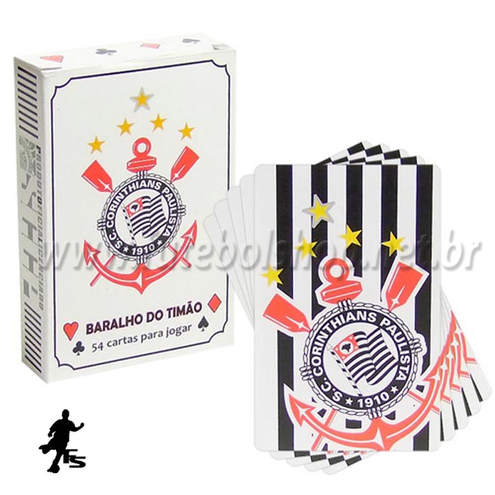 Jogo de Baralho do Corinthians Branco