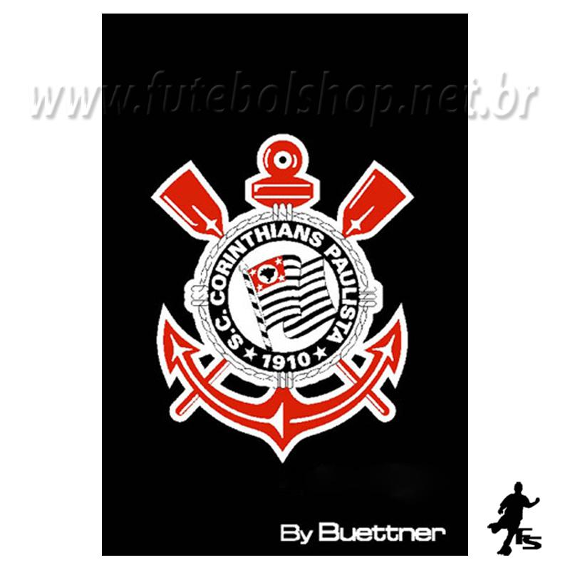 Toalha Buettner Social Veludo Corinthians - 30 x 50 cm
