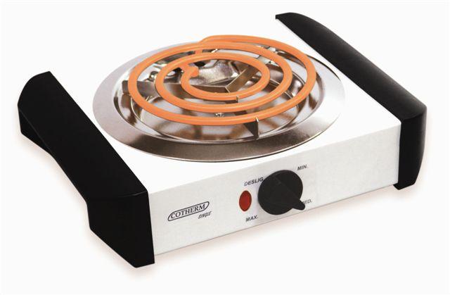 Fogão Elétrico de 1 boca Cotherm branco FEB1 1000W  - Mix Eletro