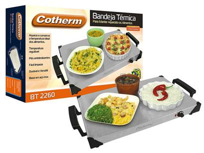 Bandeja térmica com regulagem de temperatura Cotherm - Alimentos aquecidos, quente sempre  - Mix Eletro