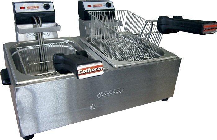 Fritadeira Elétrica Profissional 10 Litros 2 cubas de 5 Litros Aço Inox - Cotherm  - Mix Eletro