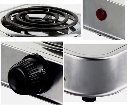 Fogão Elétrico de 2 Bocas FE-206 Em Aço Inox 2000W 127V  - Mix Eletro