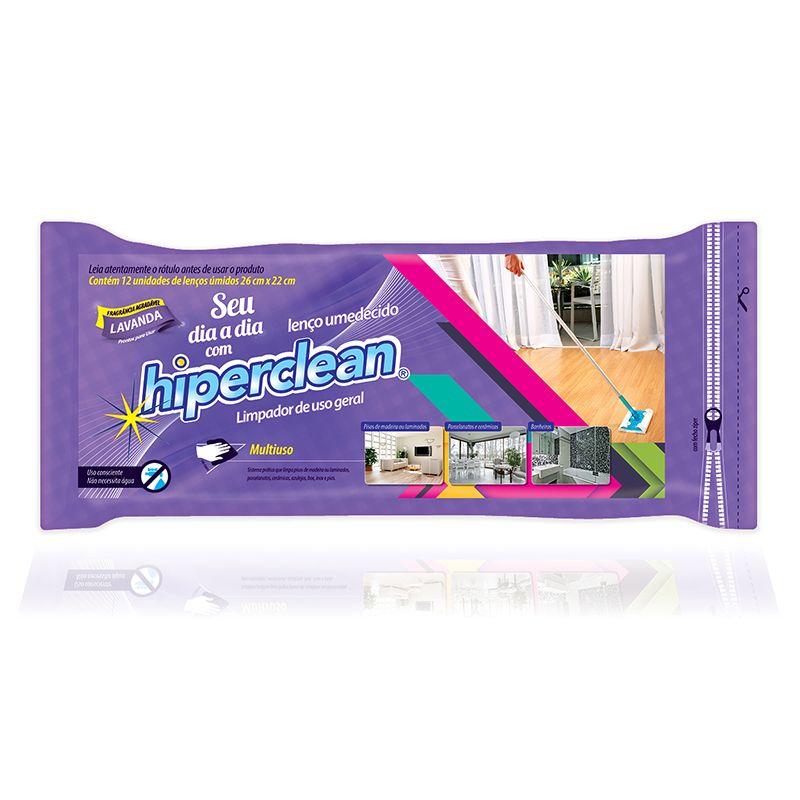 Kit Vassoura eletrostática Hiperclean para pelos, pó, fio de cabelos + Refil Seco e Úmido  - Mix Eletro