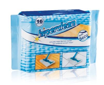 Kit Refil Seco e Úmido Hiperclean para Vassoura-rodo para pelos, pó, fio de cabelos  - Mix Eletro