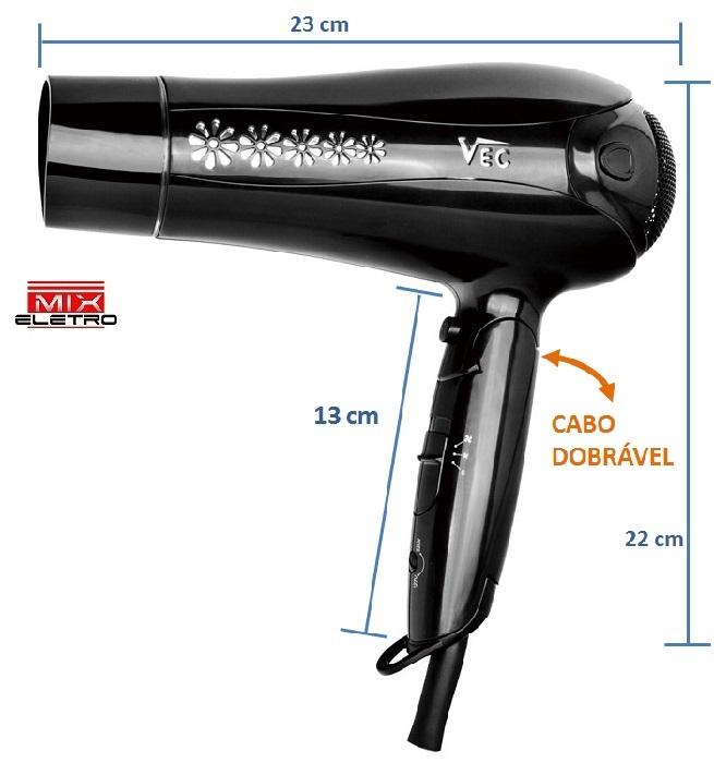 Secador VEC Dobrável SC-819 Bivolt 2000/1800W  - Mix Eletro