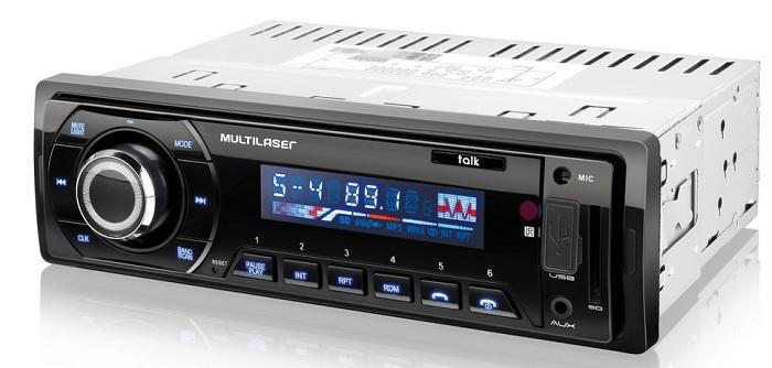 Auto Rádio Automotivo Bluetooth Tela LCD Talk Multilaser - Mp3  - Mix Eletro