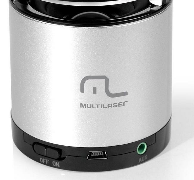 Mini Caixa de Som Portátil c/ Bluetooth Sound Box USB 10W RMS Multilaser  - Mix Eletro