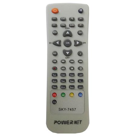 CONTROLE REMOTO SIMILAR PARA DECODIFICADOR DE TV A CABO POWERNET P99 / P99HD Platinum  - Mix Eletro