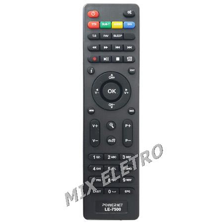 Controle Remoto Receptor Power Net P99HD Platinum  - Mix Eletro