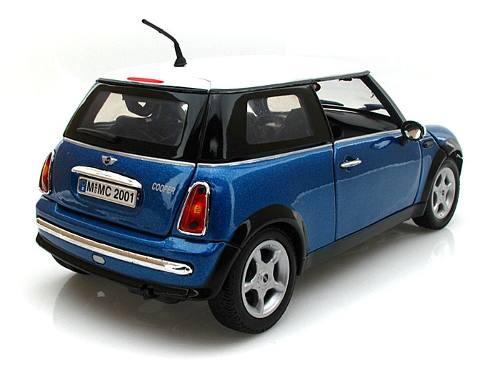 Carro Mini Cooper Azul Réplica 1:18 Motor Max  - Mix Eletro
