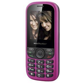 Celular Desbloqueado Multilaser 3 Chips Câmera Rádio FM,MP3, Tela LCD 1,8'' UP P3275 Rosa  - Mix Eletro