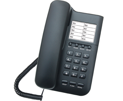 TELEFONE PADRAO KXT-3026 V10 PRETO – TELEJI  - Mix Eletro
