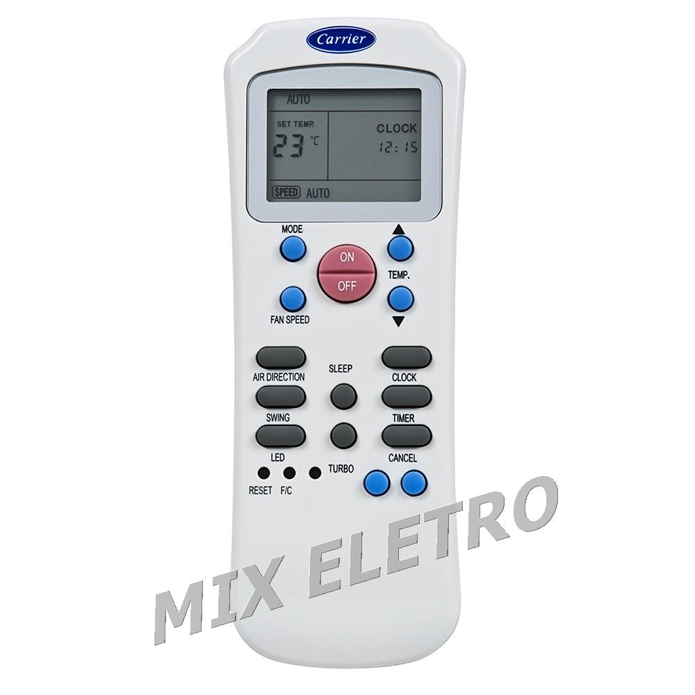 Controle Remoto Ar Condicionado Carrier Hi-wall Xpower  - Mix Eletro