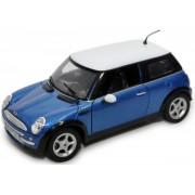 Carro Mini Cooper Azul R�plica 1:18 Motor Max