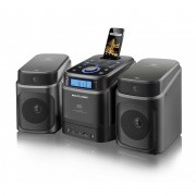 Mini System Som Multilaser 40W  com entrada Dock para iPhone, R�dio/CD/USB/SD