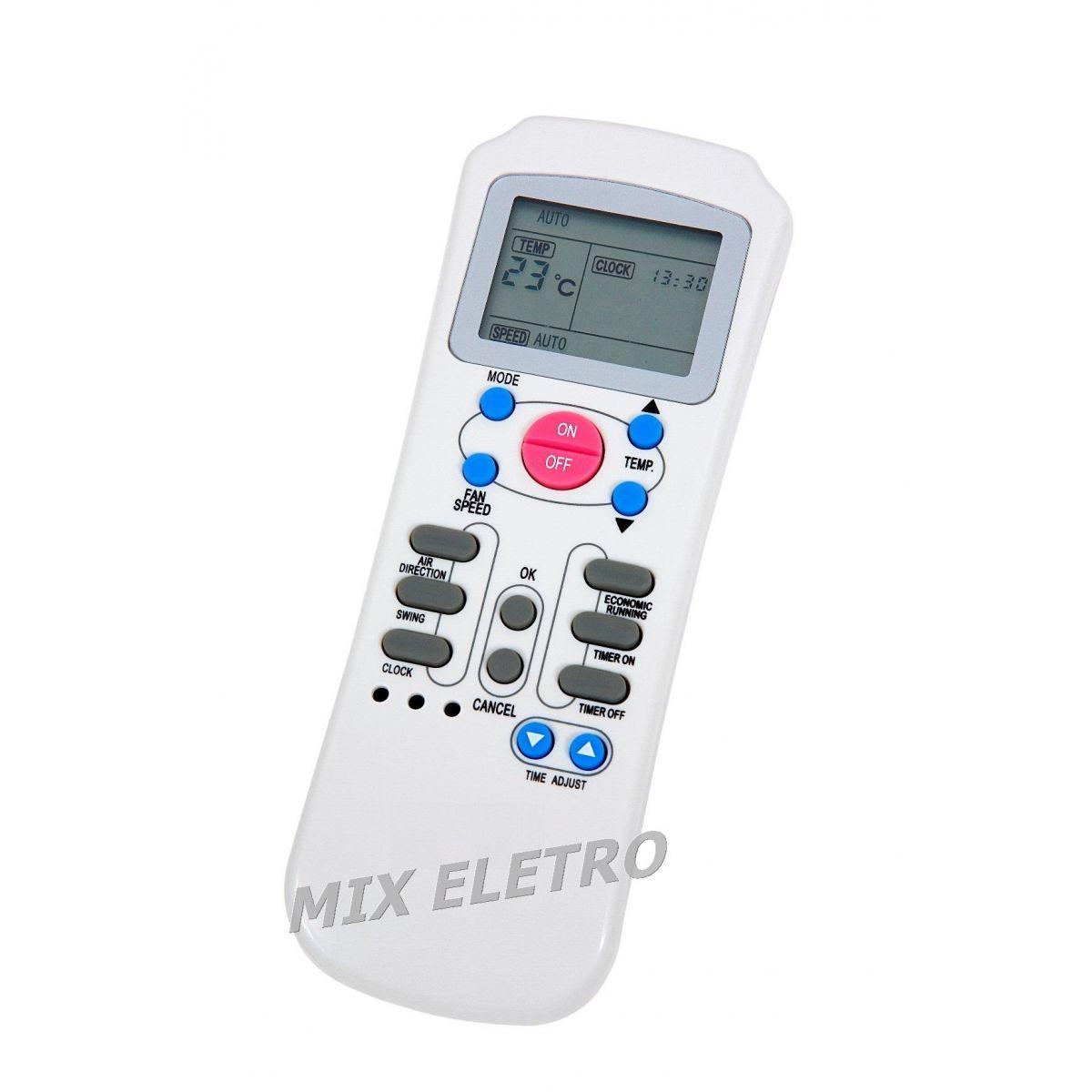 CONTROLE REMOTO PARA AR CONDICIONADO SPRINGER MAXIFLEX R14E  - Mix Eletro