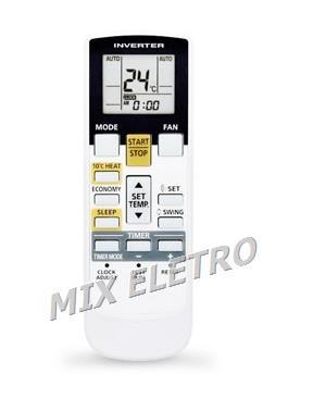 CONTROLE REMOTO PARA AR CONDICIONADO INVERTER SPLIT PISO TETO FUJITSU AR-RAH1U  - Mix Eletro