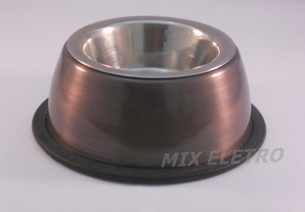 Comedouro com tigela de aço inox para Cães e Gatos  - Mix Eletro