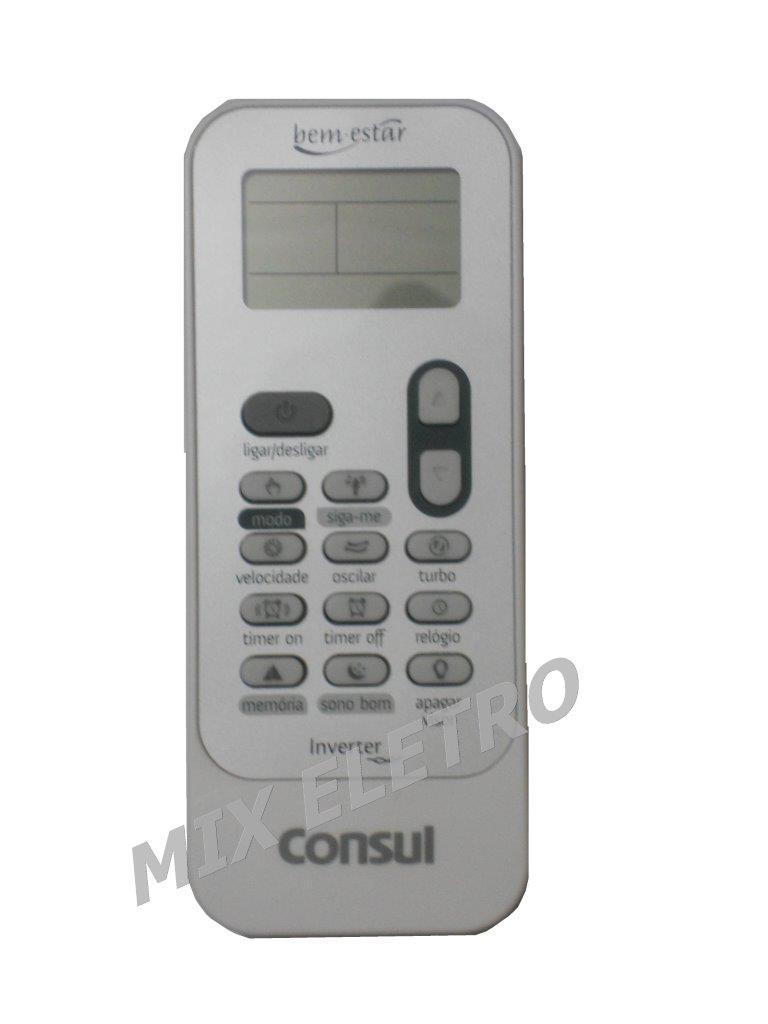 Controle Remoto Ar Condicionado Split Consul Bem Estar Inverter  - Mix Eletro