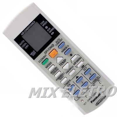 Controle Remoto Ar Condicionado Panasonic Inverter Econavi  - Mix Eletro