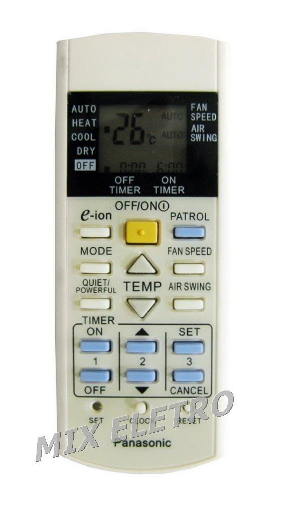 Controle Remoto Ar Condicionado Panasonic Tipo Split A75C3297  - Mix Eletro