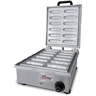Máquina de Crepe Suíço 12 cavidades  Crepeira Cemaf  - Mix Eletro