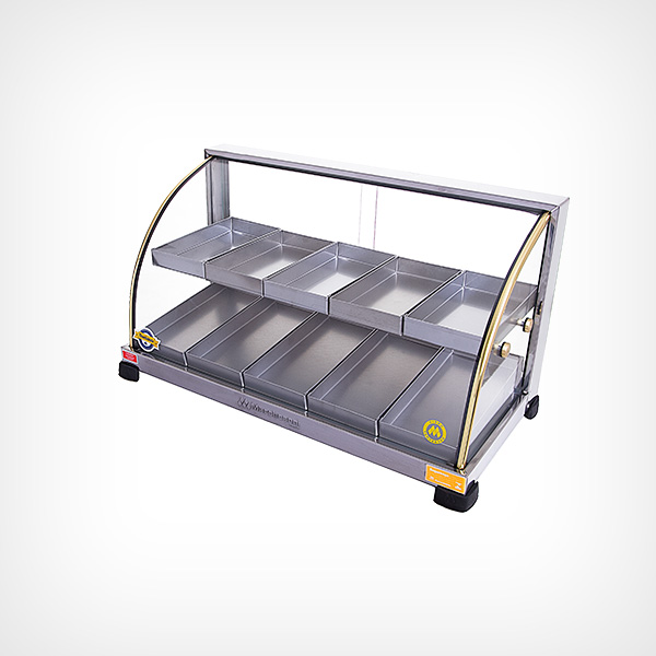 Estufa de salgado com vidro curvo Dupla com 10 Bandejas Marchesoni Linha Ouro  - Mix Eletro