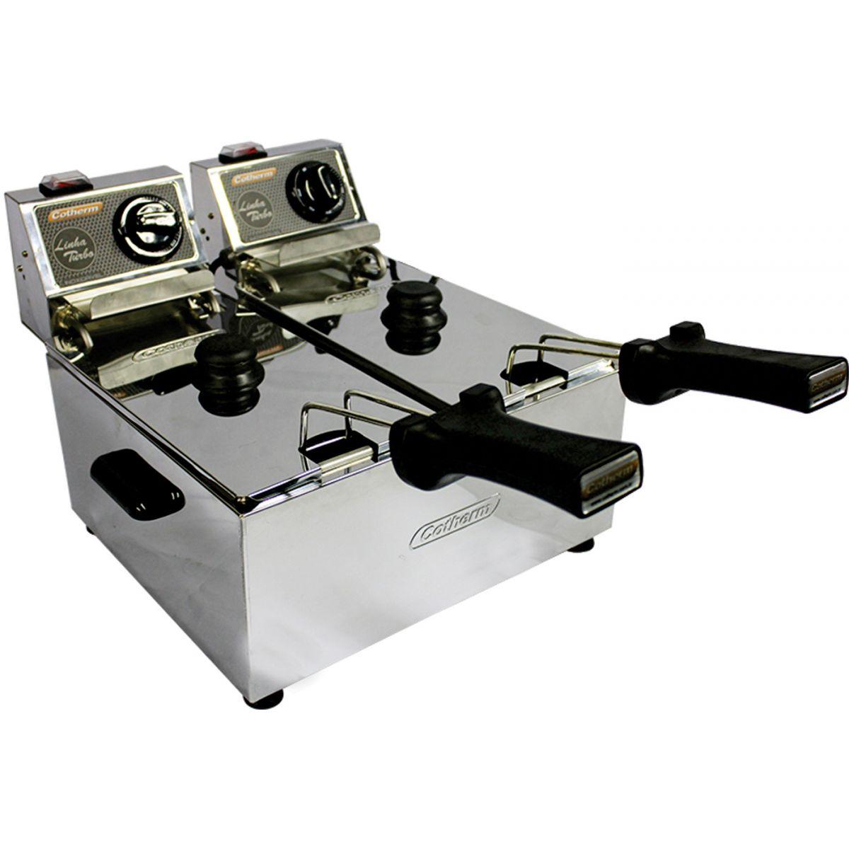 Fritadeira elétrica 6 Litros 2 Cubas de 3Litros Linha Turbo 5000W 220V Cotherm  - Mix Eletro