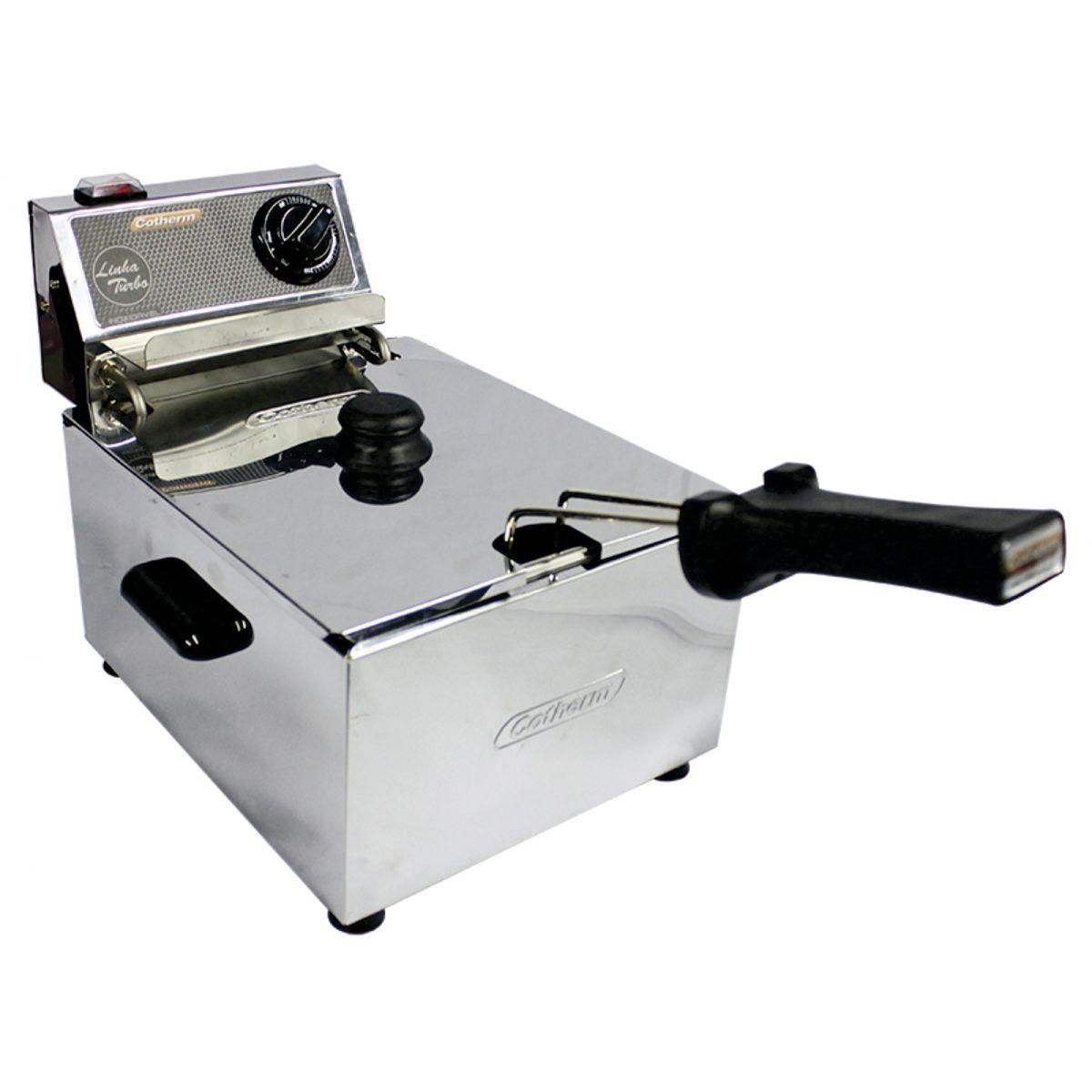 Fritadeira Elétrica 5 Litros 1 Cuba Linha Turbo 3500W 220V Cotherm  - Mix Eletro