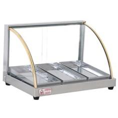 Estufa para Salgados Vidro Curvo Edanca Linha Ouro com 3 Bandejas  - Mix Eletro