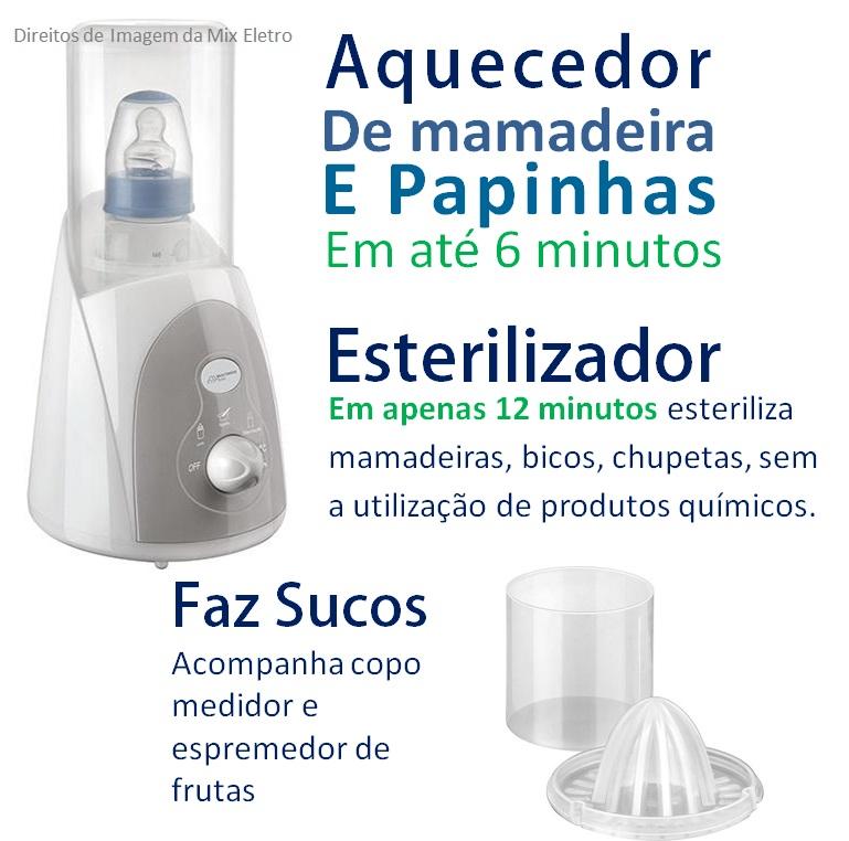 Aquecedor de mamadeira elétrico 3 em 1 - Multikids Baby  - Mix Eletro