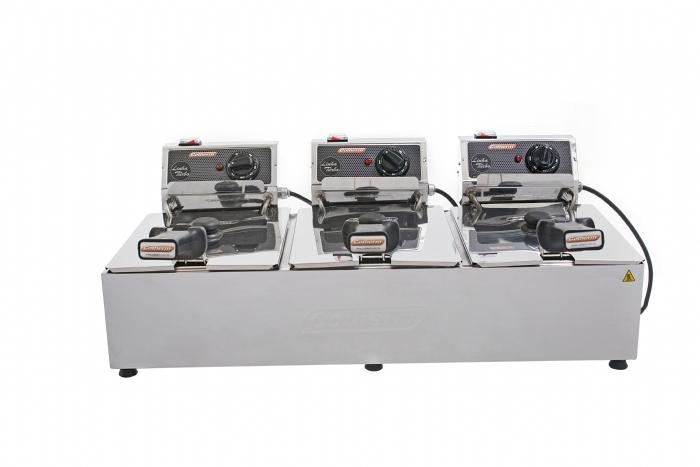 FRITADEIRA ELÉTRICA PROFISSIONAL 3 CUBAS DE 5 LITROS LINHA TURBO COTHERM 220V  - Mix Eletro
