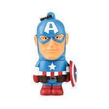 Pendrive 8GB Colecionável Vingadores Marvel – Capitão América  - Mix Eletro