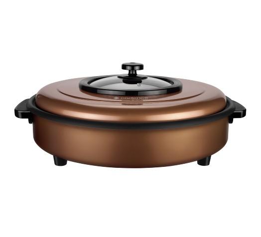 Panela Elétrica Multiuso com tampa Gran Chef Marrom PAN700 Cadence  - Mix Eletro