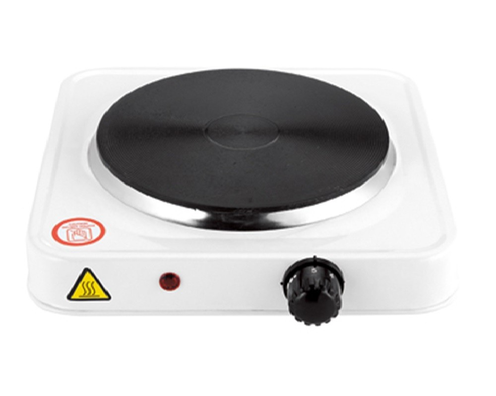 Fogão elétrico 1 boca Branco 1500W com prato antiaderente  - Mix Eletro