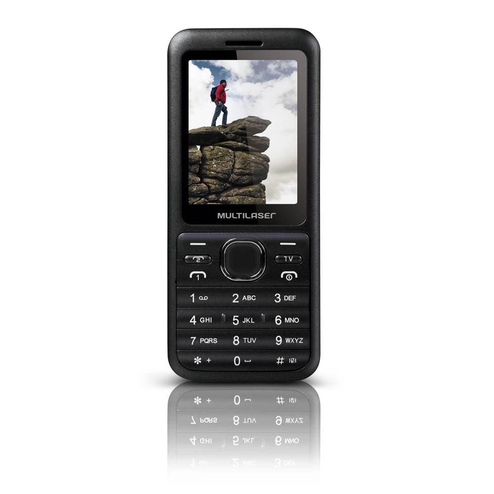 "Celular Desbloqueado Multilaser View P3266 Preto com Dual Chip, 2.4"", Bluetooth, Câmera 1.3 MP  - Mix Eletro"