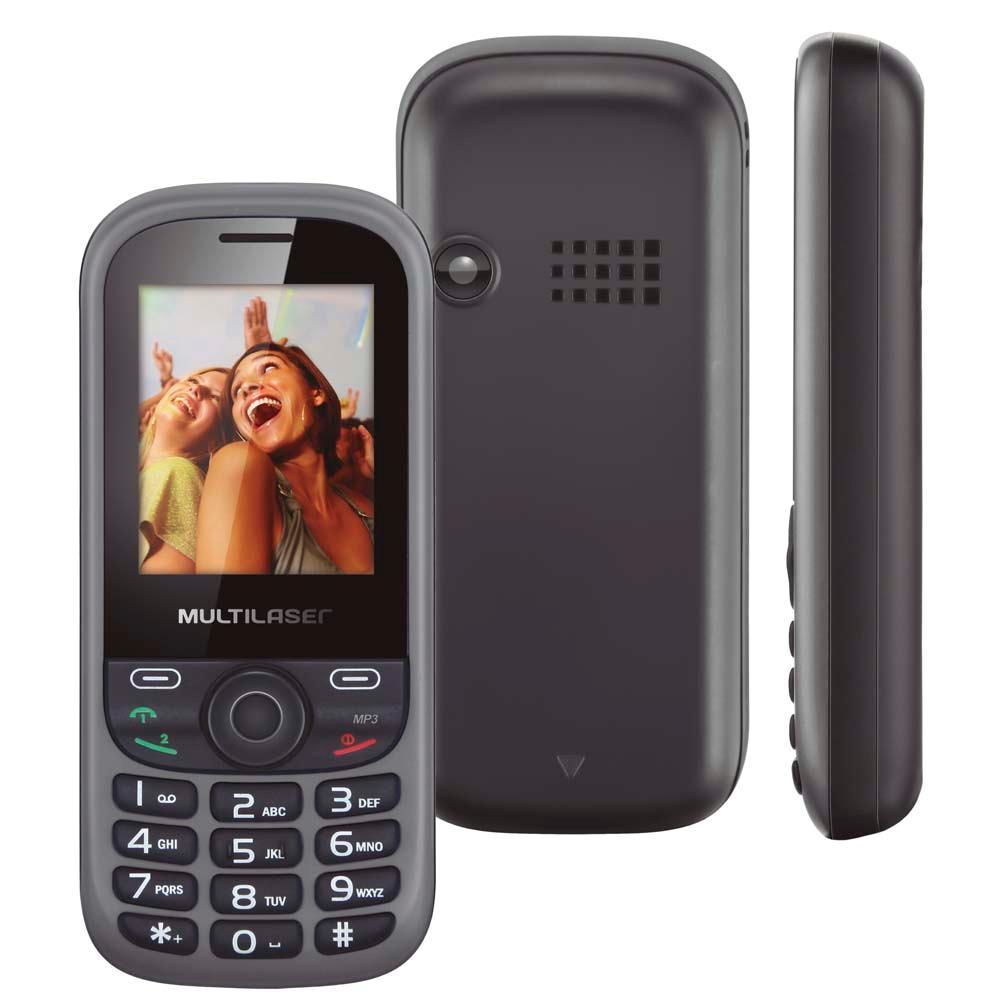 """Celular Desbloqueado Multilaser Dual Chip Câmera Rádio FM MP3 Tela LCD 1,8"""" P3292 UP  - Mix Eletro"""