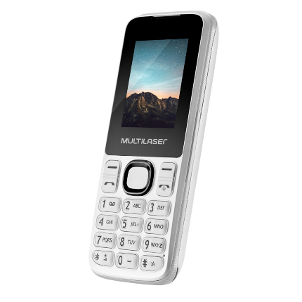 Celular New Up Dual chip com câmera Bluetooth MP3 Branco Multilaser - P9033 - Mix Eletro