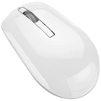 Mouse Óptico Branco Usb sem fio 1600dpi com bateria de lítio MO188 Multilaser   - Mix Eletro
