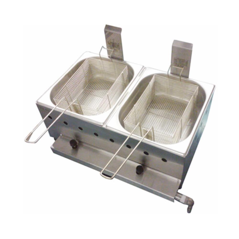 Fritadeira profissional Gás 10 Litros 02 cubas 05L - Ital Inox  - Mix Eletro