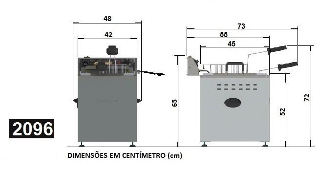 Fritadeira Elétrica Industrial 18 litros água e óleo Bancada Cotherm 220V  - Mix Eletro