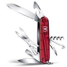 Canivete Suíço Victorinox Climber Vermelho Translúcido 14 funções Original  - Mix Eletro