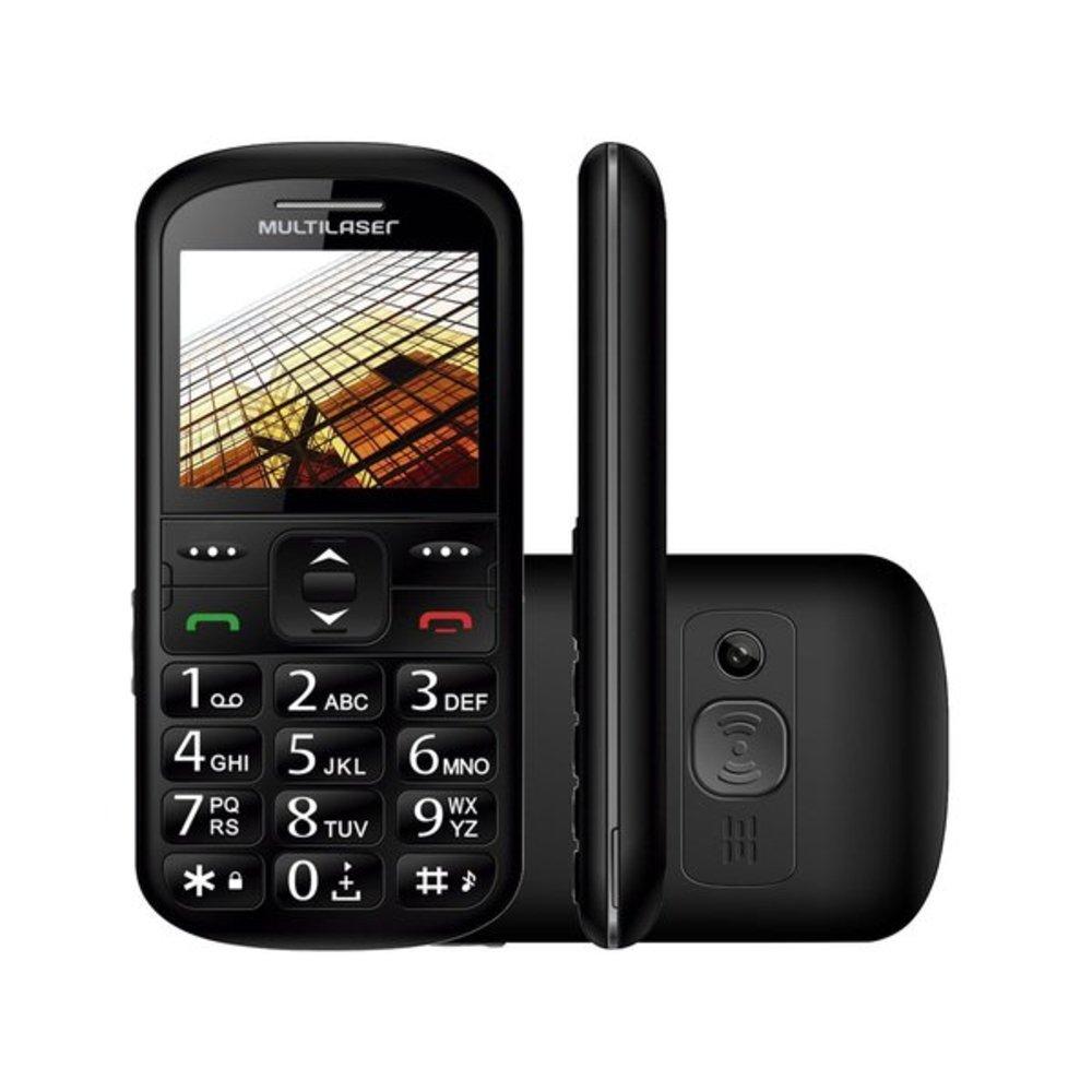 """Celular Vita Dual Chip Tela 1,8"""" USB e Bluetooth Preto Multilaser - P9048  - Mix Eletro"""