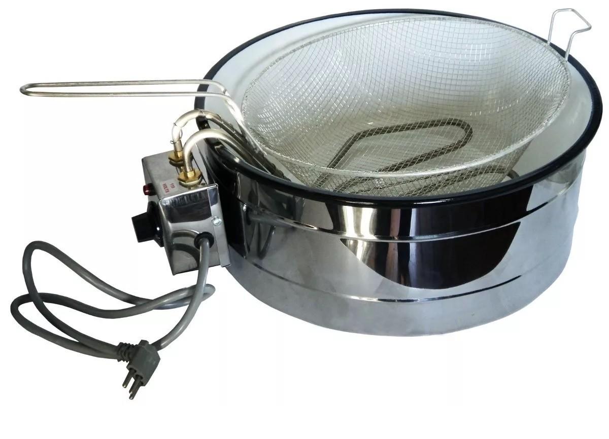 Fritadeira de pastel - Tacho para Fritura Elétrico Stevan Metal 7,0L  - Mix Eletro
