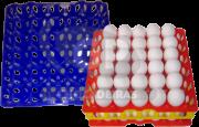 Bandeja plastica armazenagem de ovos