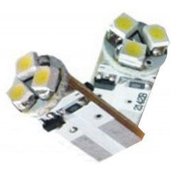 Lâmpada Led 12V T10 Importado 3 Leds (Par) Branco  - BEST SALE SHOP