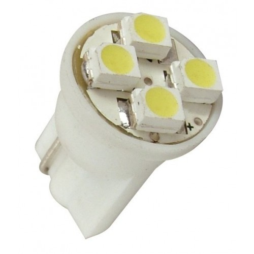 Lâmpada Led 12V T10 Importado 4 Leds (Par) Amarelo  - BEST SALE SHOP