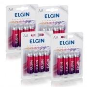 16 Pilhas Recarregáveis Elgin AA 2500 mAh 1,2V Lacrado Novo Original