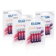 16 Pilhas Recarregáveis Elgin AAA 1000 mAh 1,2V Palito Lacrado Novo Original